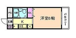サンライズ野田阪神[5階]の間取り