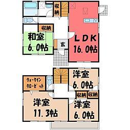[一戸建] 栃木県宇都宮市大谷町 の賃貸【/】の間取り