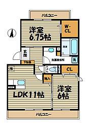サニーサイドアネックス鎌倉[2階]の間取り