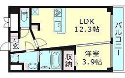Estate NOE エステートノエ 2階1LDKの間取り