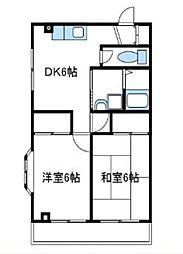 神奈川県厚木市酒井の賃貸マンションの間取り