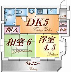 兵庫県神戸市須磨区権現町1丁目の賃貸マンションの間取り