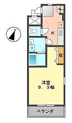 愛知県名古屋市守山区向台1丁目の賃貸マンションの間取り