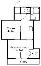 大洲サンハイツ[1階]の間取り