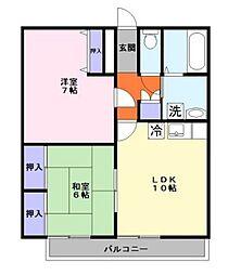 コーポたんぽぽ[1階]の間取り