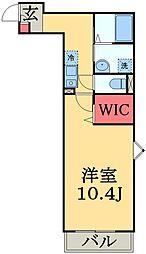 東葉高速鉄道 北習志野駅 徒歩12分の賃貸アパート 1階1Kの間取り