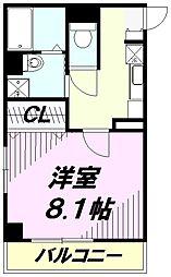 埼玉県狭山市入間川2丁目の賃貸マンションの間取り