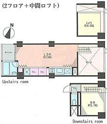 ベルメゾン南麻布grand[8階]の間取り