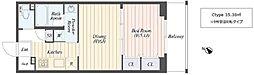 仮称)柏の葉キャンパス新築マンション計画 3階1DKの間取り