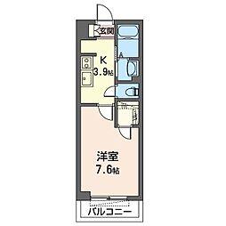 仮)千葉市若葉区小倉台シャーメゾン 2階1Kの間取り
