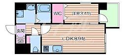 JR東海道・山陽本線 吹田駅 徒歩5分の賃貸マンション 1階1LDKの間取り