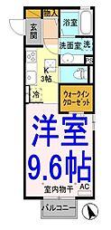 D-room川木谷[1階]の間取り