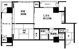 パール福岡[5階]の間取り
