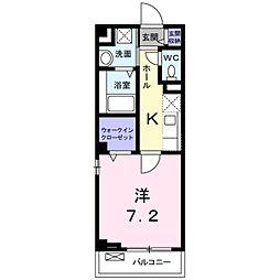 JR阪和線 三国ヶ丘駅 徒歩6分の賃貸マンション 2階1Kの間取り