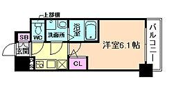 大阪府大阪市福島区福島4丁目の賃貸マンションの間取り