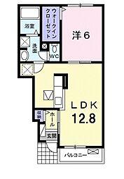 Osaka Metro御堂筋線 新金岡駅 徒歩20分の賃貸アパート 1階1LDKの間取り