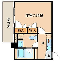 レジディア新川[2階]の間取り