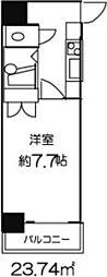 ドミール東日本橋[406号室]の間取り
