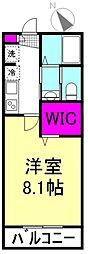 東武東上線 上福岡駅 徒歩13分の賃貸アパート 1階1Kの間取り