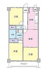 東京都練馬区田柄3丁目の賃貸マンションの間取り