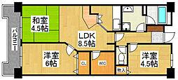 G−ONE姪浜駅南EAST[302号室]の間取り
