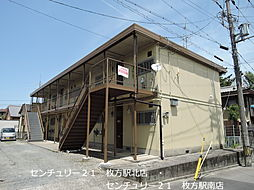 京都府八幡市男山長沢の賃貸アパートの外観