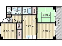 アビタ昭和[3階]の間取り