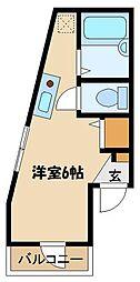 JR京浜東北・根岸線 大宮駅 徒歩9分の賃貸アパート 2階ワンルームの間取り