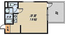 金岡コーポラス[1階]の間取り