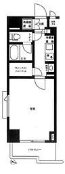 JR総武線 市ヶ谷駅 徒歩8分の賃貸マンション 8階1Kの間取り