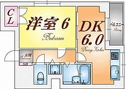 ハーバーウエスト神戸[6階]の間取り