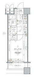 ファーストリアルタワー新宿(旧 アクス・ザ・タワー新宿) 15階1Kの間取り