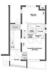 ハルハウス三軒茶屋[B号室]の間取り
