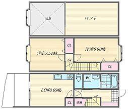 夏井荘 A[104号室]の間取り