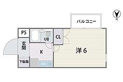 シティパレス平尾駅前P−5[401号室]の間取り