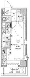 LEXE東京North II 3階ワンルームの間取り