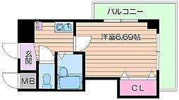 大阪府吹田市千里山東3丁目の賃貸マンションの間取り