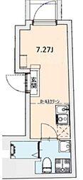 ヒルサイドテラス文京湯島 1階ワンルームの間取り