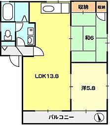 T−net サニーコートI[2階]の間取り