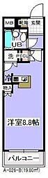 千葉県市川市香取2の賃貸マンションの間取り