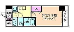 ミッドコートウメキタ[4階]の間取り