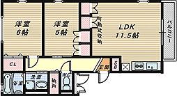 コンフォール堺北[3階]の間取り