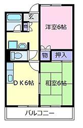 リバーサイドエクセル[3階]の間取り