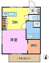 サニーウェルガーデン[2階]の間取り