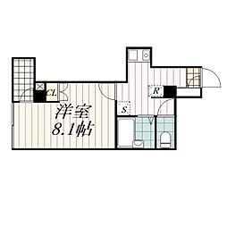 千葉県千葉市中央区中央1丁目の賃貸マンションの間取り