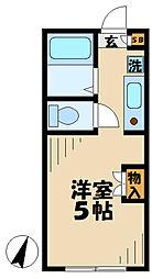 東京都町田市能ヶ谷6丁目の賃貸アパートの間取り