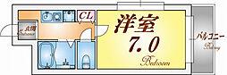 スマ扇コーポ[2階]の間取り
