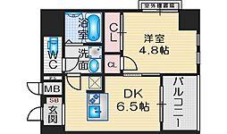 SOAR ESAKA EAST 4階1DKの間取り