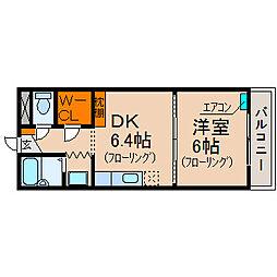 RFマンション祇園[2階]の間取り