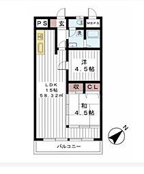 船橋丸山スカイマンション[5階]の間取り
